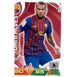 Dani Alves Barcelona 38 Adrenalyn XL La Liga 2011-12