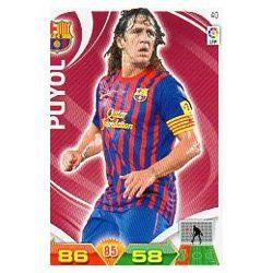 Puyol Barcelona 40 Adrenalyn XL La Liga 2011-12