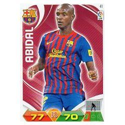 Abidal Barcelona 41 Adrenalyn XL La Liga 2011-12
