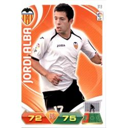 Jordi Alba Valencia 313 Adrenalyn XL La Liga 2011-12