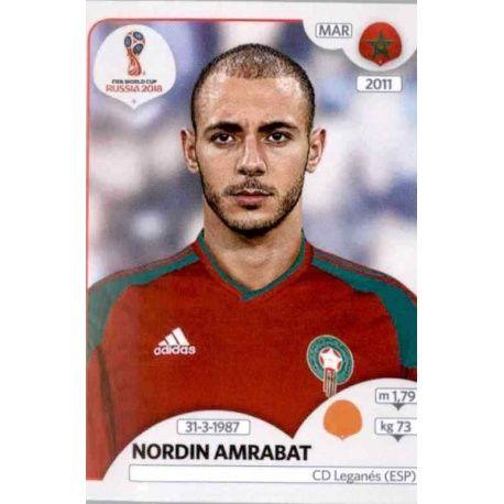 Panini WM 2018 World Cup Russia Marokko Nordin Amrabat Sticker 164