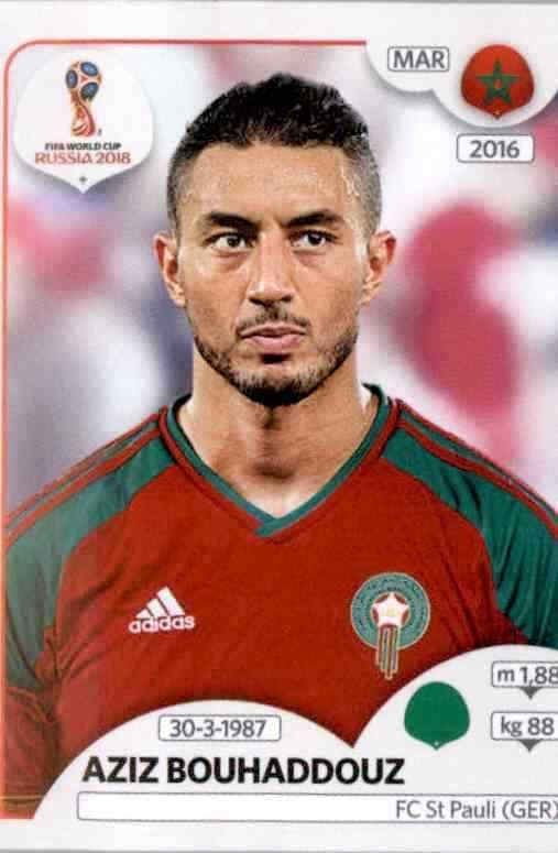 Marokko Hakim Ziyech Panini WM 2018 World Cup Russia Sticker 166
