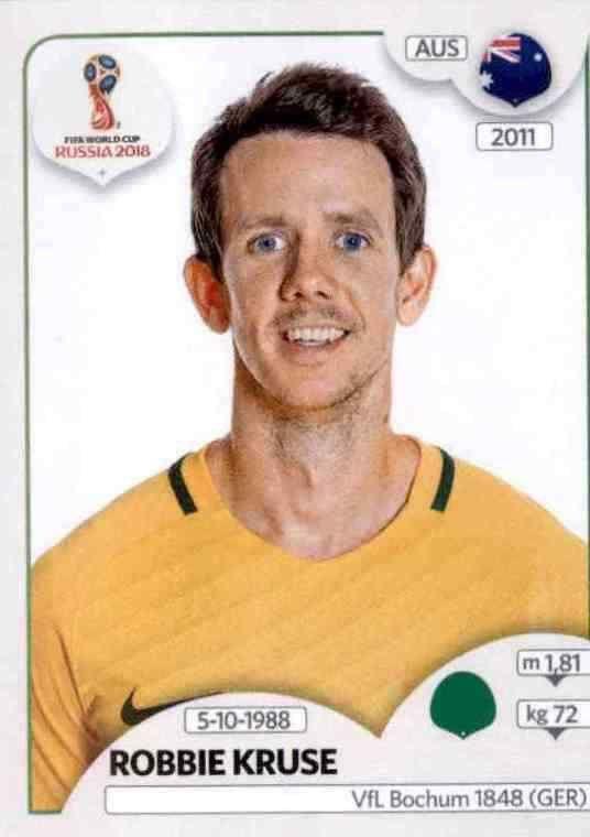 Australien Panini WM 2018 World Cup Russia Robbie Kruse Sticker 231