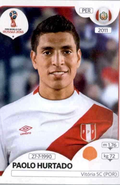 Peru Paolo Hurtado Sticker 247 Panini WM 2018 World Cup Russia