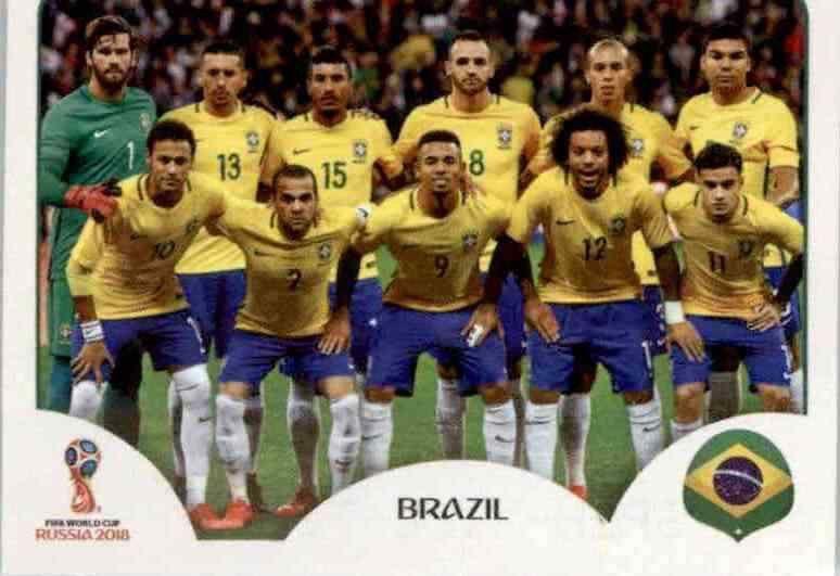 Dani Alves Sticker 355 Brasilien Panini WM 2018 World Cup Russia