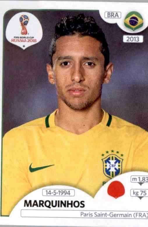 Brasilien Panini WM 2018 World Cup Russia Sticker 363 Fernandinho