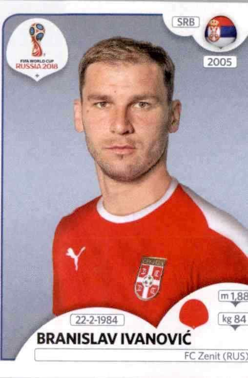 Vladimir Stojkovic Serbien Sticker 414 Panini WM 2018 World Cup Russia