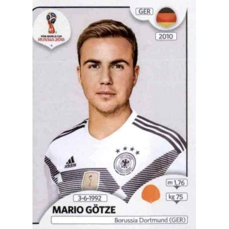 Sticker Mario Götze from Germany Panini World Cup Russia 250d7db114c57