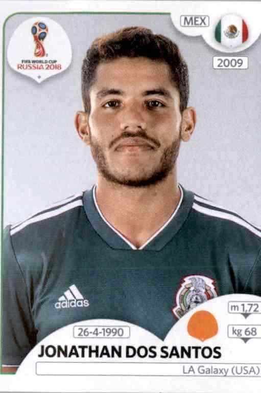 Sticker 461 Panini WM 2018 World Cup Russia Mexico Jonathan dos Santos