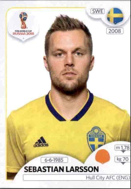 488 Isaac Kiese Thelin Sweden No Panini World Cup 2018 Russia