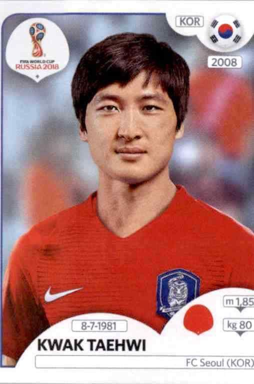 Kim Jinsu Panini WM 2018 World Cup Russia Sticker 496 Südkorea
