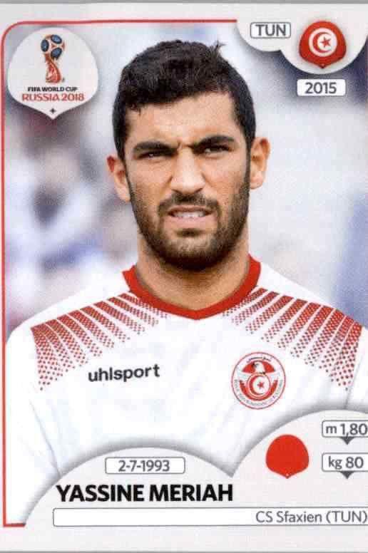 Ghailene Chaalali Panini WM 2018 World Cup Russia Sticker 564 Tunesien