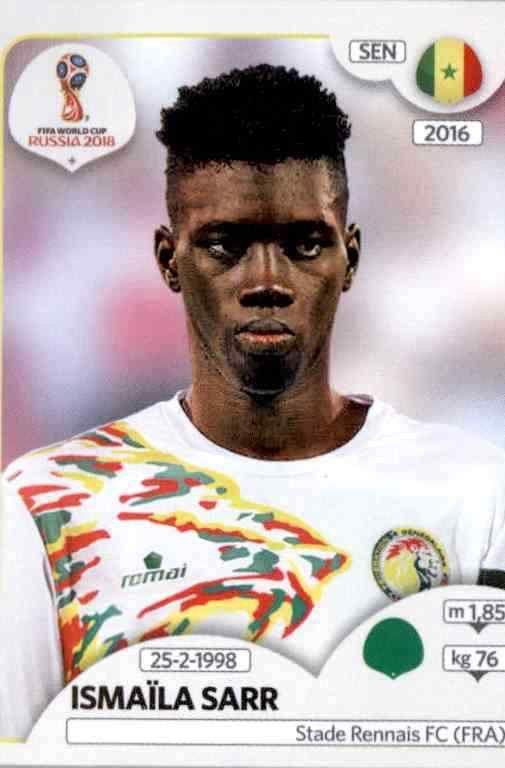 Sticker 630 Senegal Panini WM 2018 World Cup Russia Ismaïla Sarr