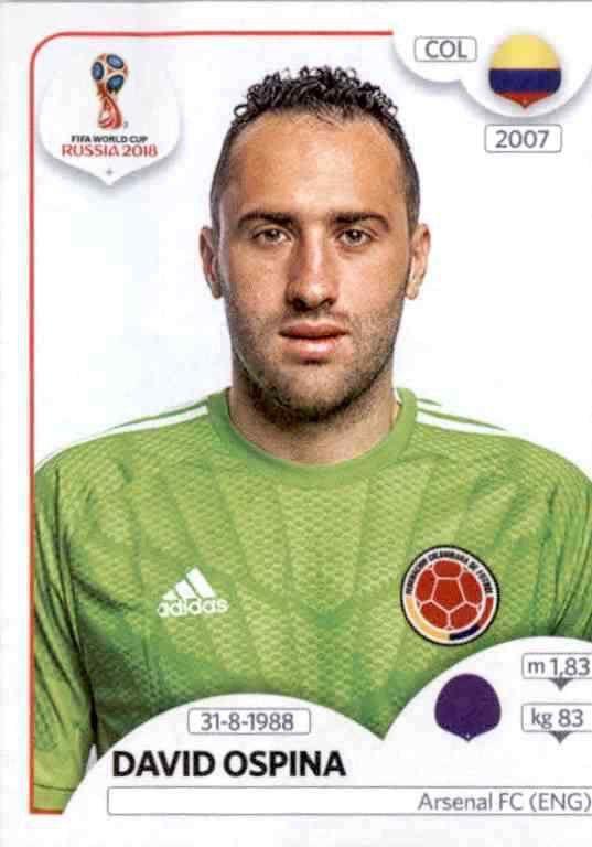 Sticker 646 Panini WM 2018 World Cup Russia Radamel Falcao Garcia Kolumbien