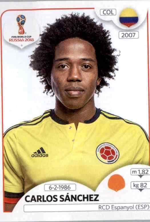 Sticker 646 Panini WM 2018 World Cup Russia Radamel Falcao Garcia Kolumbien