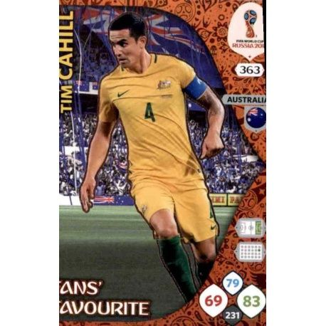 Tim Cahill Fans Favourite 362 Adrenalyn XL Russia 2018