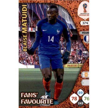 Blaise Matuidi Fans Favourite 373 Adrenalyn XL World Cup 2018