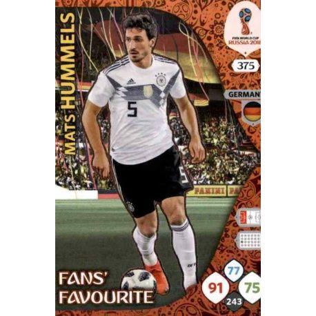 Mats Hummels Fans Favourite 374 Adrenalyn XL World Cup 2018