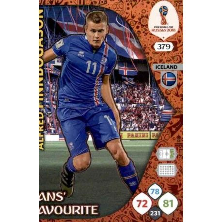 Alfred Finnbogason Fans Favourite 378 Adrenalyn XL World Cup 2018
