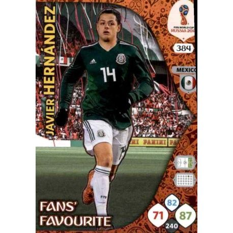 Javier Hernández Fans Favourite 383 Adrenalyn XL Russia 2018