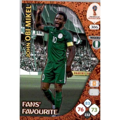 John Obi Mikel Fans Favourite 385 Adrenalyn XL World Cup 2018