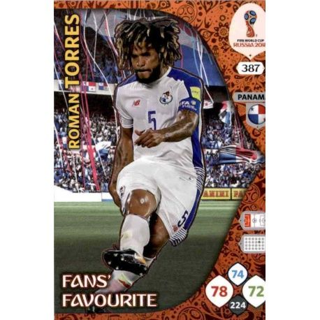 Roman Torres Fans Favourite 386 Adrenalyn XL World Cup 2018