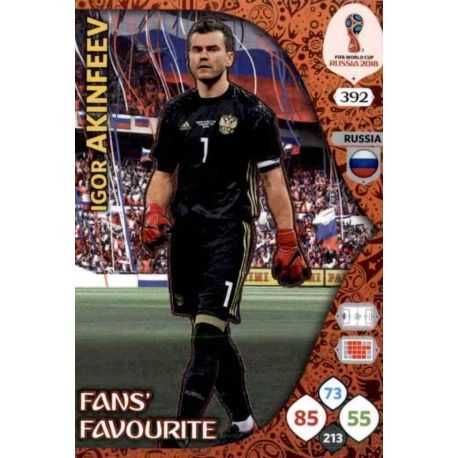 Igor Akinfeev Fans Favourite 391 Adrenalyn XL World Cup 2018