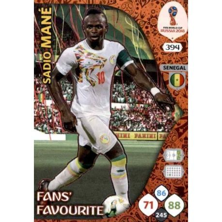 Sadio Mané Fans Favourite 393 Adrenalyn XL World Cup 2018