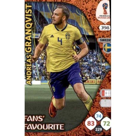 Andreas Granqvist Fans Favourite 397 Adrenalyn XL World Cup 2018