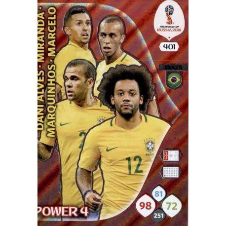 Brasil Power 4 401 Adrenalyn XL Russia 2018