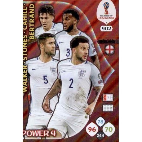 Inglaterra Power 4 402 Adrenalyn XL Russia 2018