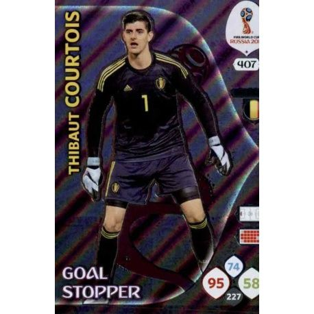 Thibaut Courtois Goal Stoppers 407 Adrenalyn XL Russia 2018
