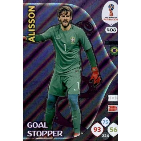 Alisson Goal Stoppers 408 Adrenalyn XL World Cup 2018
