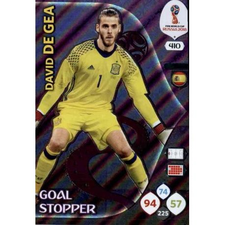 David De Gea Goal Stoppers 410 Adrenalyn XL Russia 2018