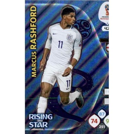 Marcus Rashford Rising Stars 421 Adrenalyn XL Russia 2018