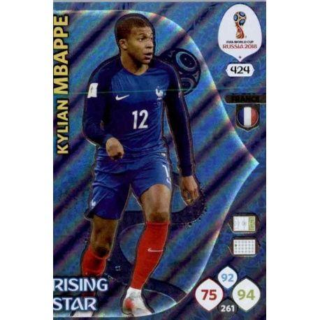 Kylian Mbappé Rising Stars 424 Adrenalyn XL World Cup 2018