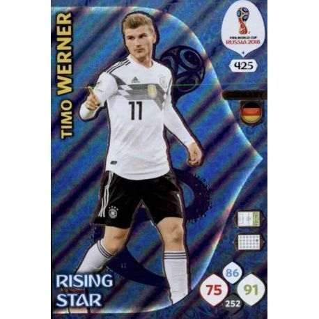 Timo Werner Rising Stars 425 Adrenalyn XL Russia 2018