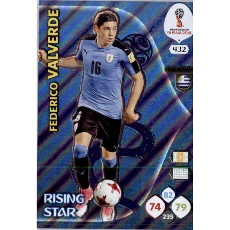 Federico Valverde Rising Stars 432 Adrenalyn XL World Cup 2018