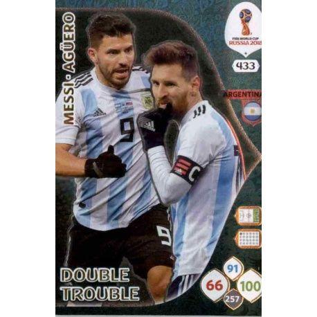 Lionel Messi / Sergio Agüero Double Trouble 433 Adrenalyn XL World Cup 2018