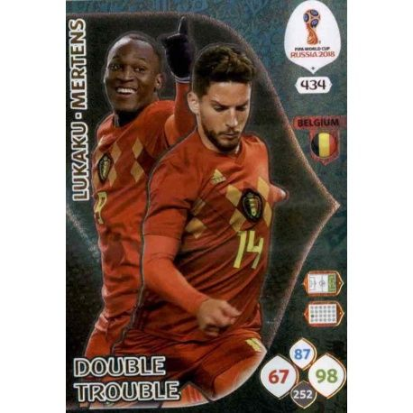 Romelu Lukaku / Dries Mertens Double Trouble 434 Adrenalyn XL Russia 2018
