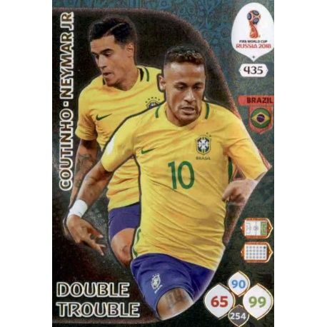 Philippe Coutinho / Neymar Jr Double Trouble 435 Adrenalyn XL World Cup 2018