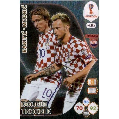 Ivan Rakitić / Luka Modrić Double Trouble 436 Adrenalyn XL Russia 2018
