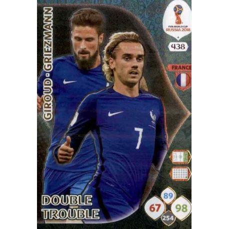 Olivier Giroud / Antoine Griezmann Double Trouble 438 Adrenalyn XL Russia 2018