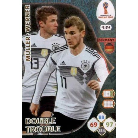 Thomas Müller / Timo Werner Double Trouble 439 Adrenalyn XL World Cup 2018