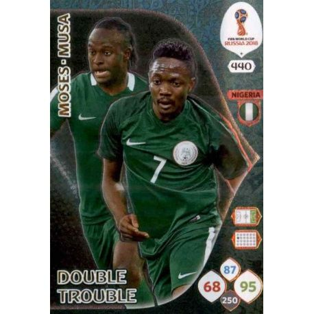 Victor Moses / Ahmed Musa Double Trouble 440 Adrenalyn XL World Cup 2018