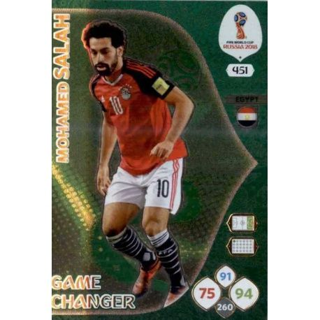Mohamed Salah Game Changers 451 Adrenalyn XL World Cup 2018