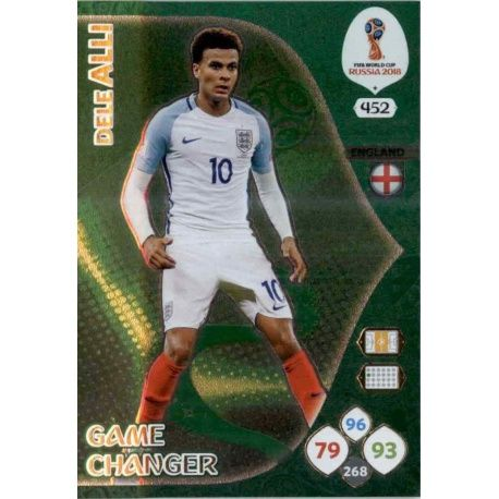 Dele Alli Game Changers 452 Adrenalyn XL World Cup 2018