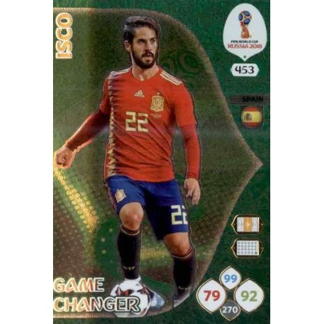 Isco Game Changers 453 Adrenalyn XL Russia 2018