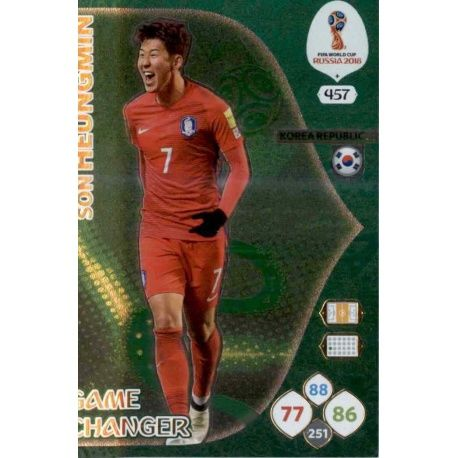 Son Heung Game Changers 457 Adrenalyn XL Russia 2018