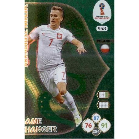 Arkadiusz Milik Game Changers 458 Adrenalyn XL Russia 2018